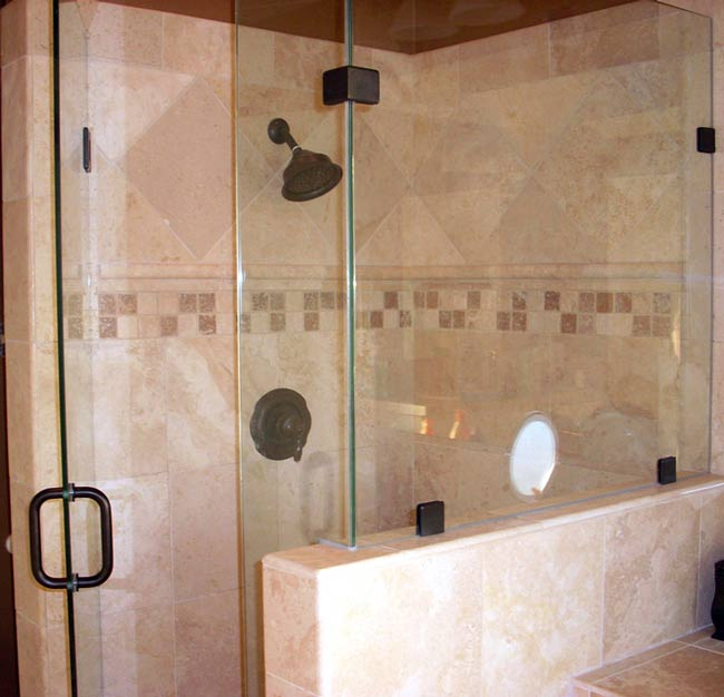 heavy frameless shower door glass is a beautiful addition to every bathroom