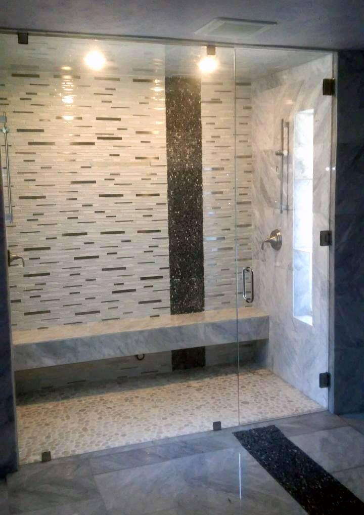 Image result for custom frameless shower door company texas