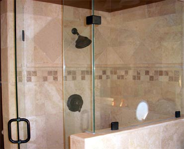 Frameless shower doors and glass for Dallas, Texas.